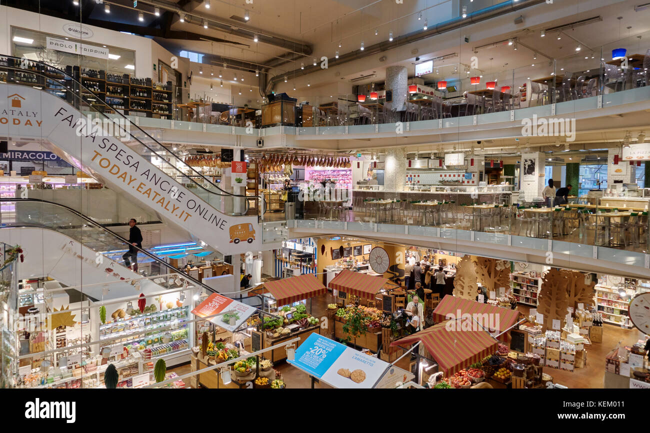 Eataly food store in Milano, Piazza 25 Aprile, Italy Stock Photo ...