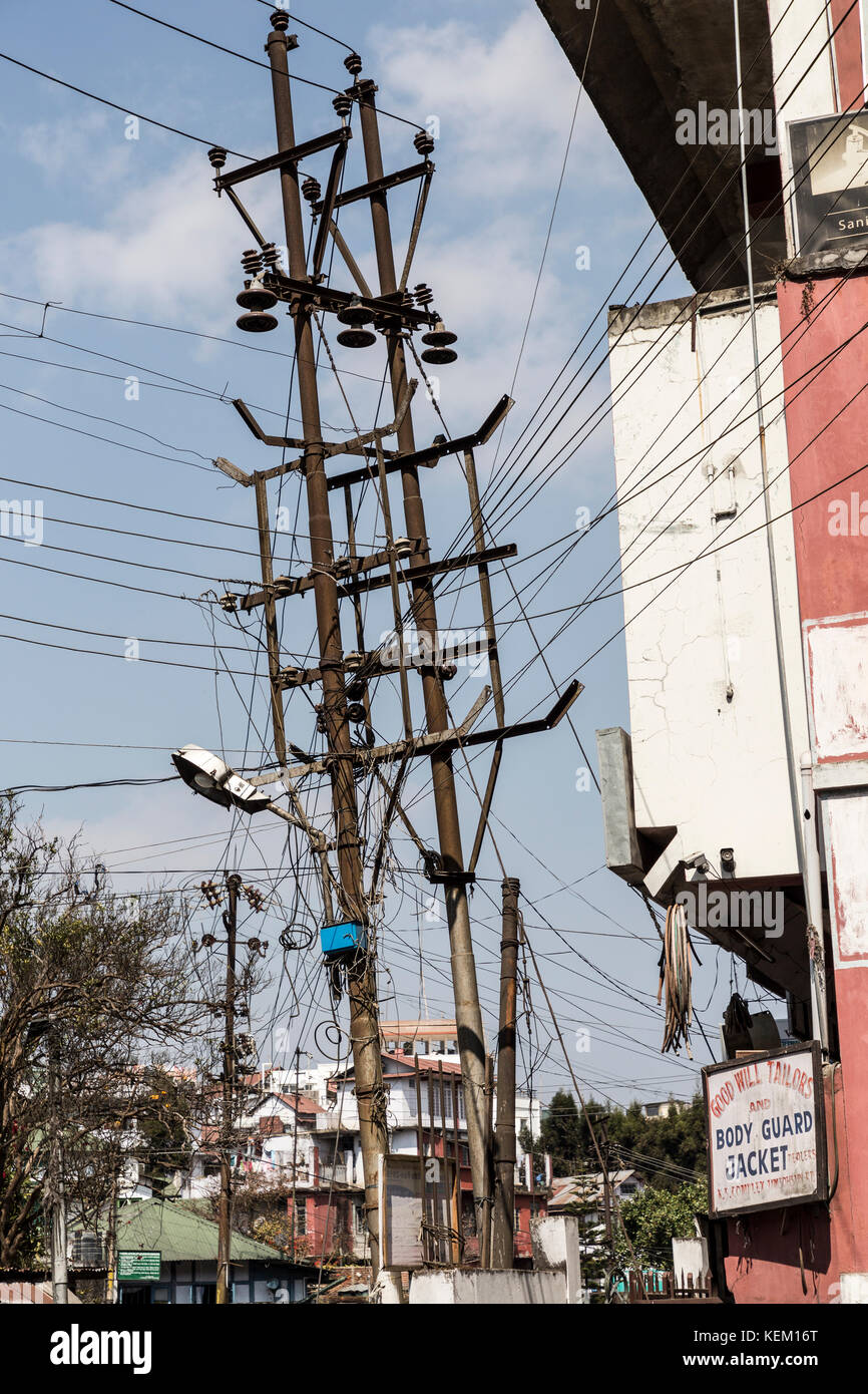 Fine Many Wires On An Electricity And Telephone Pole Shillong Meghalaya Wiring Digital Resources Ntnesshebarightsorg
