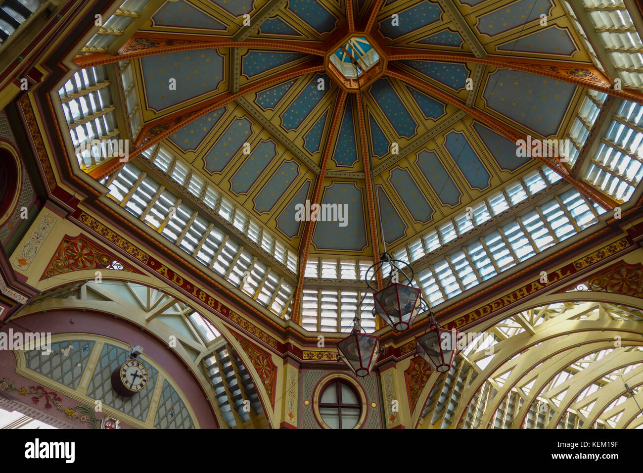 Leadenhall Market, City of London, London, England, United Kingdom, Europe - Stock Image