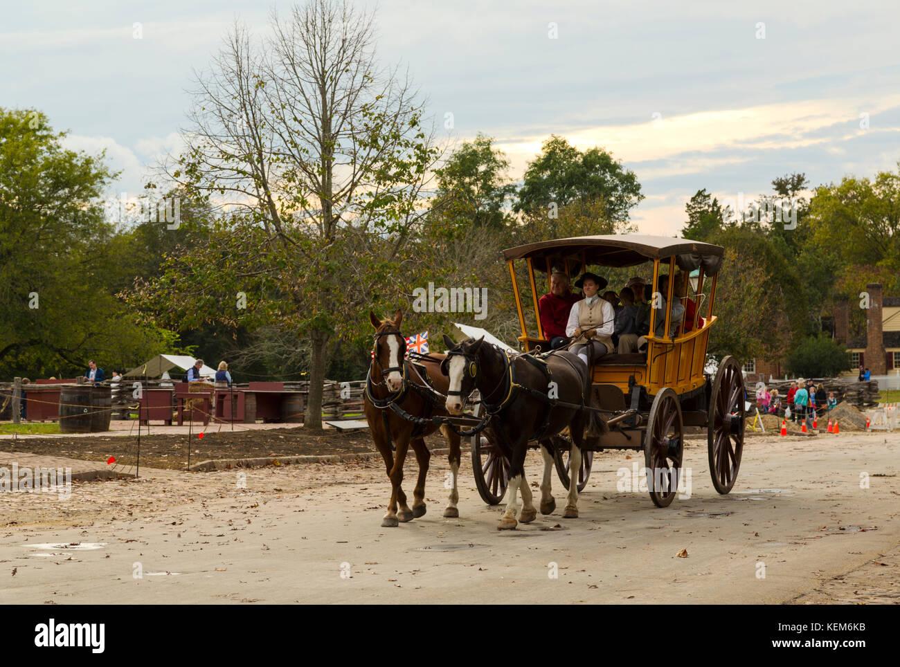 Colonial Williamsburg Virginia Stock Photo