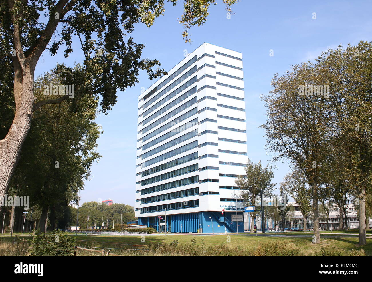 TU Delft Faculty of Aerospace Engineering building at the Delft University of Technology in the Netherlands - Stock Image