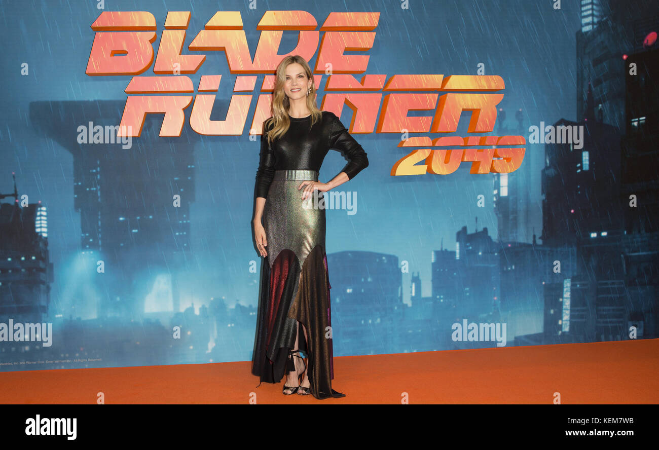Celebs attend  Blade Runner 2049  Featuring: Sylvia Hoeks Where: London, United Kingdom When: 21 Sep 2017 Credit: - Stock Image