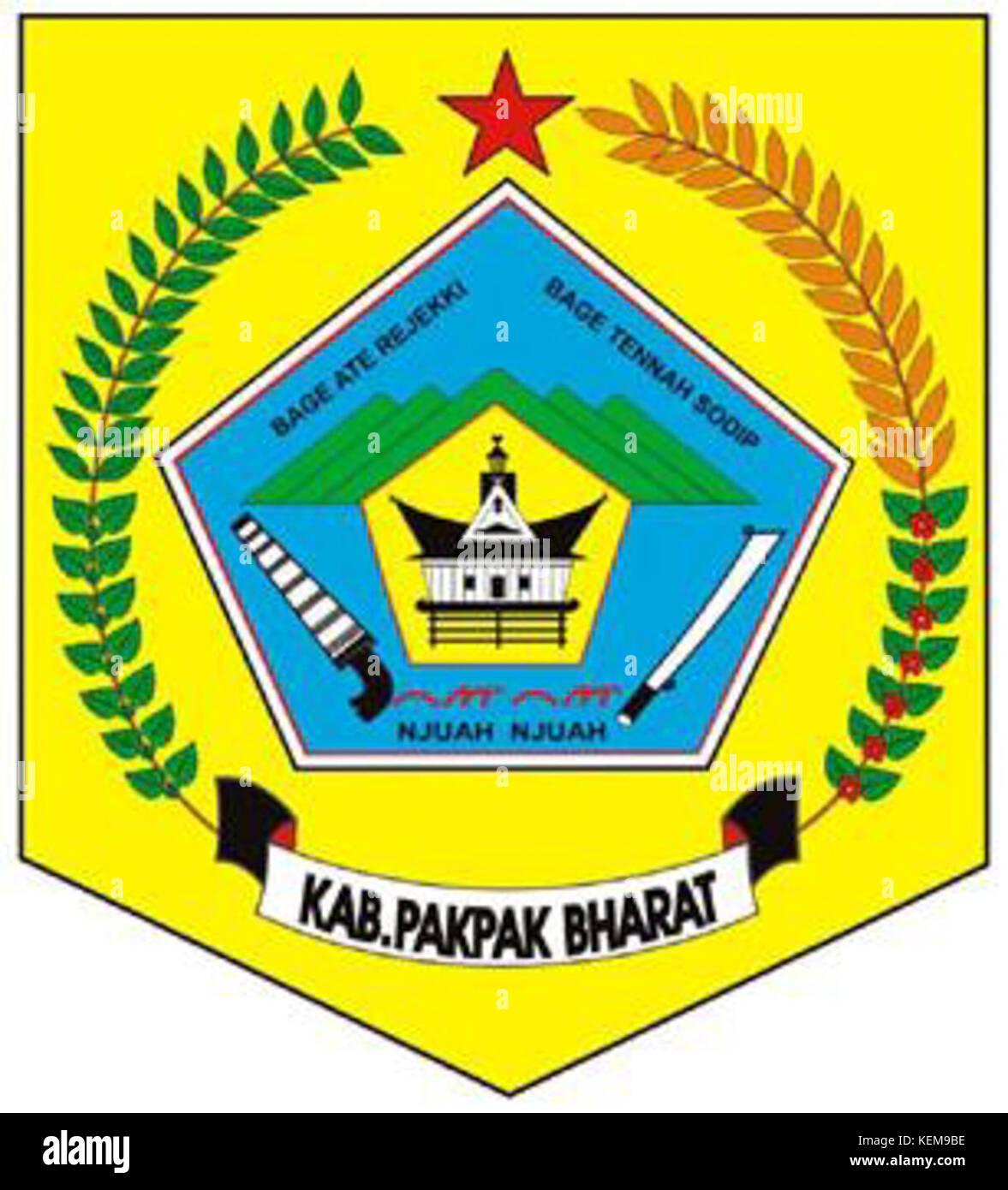Lambang Kabupaten Pakpak Bharat Stock Photo Alamy