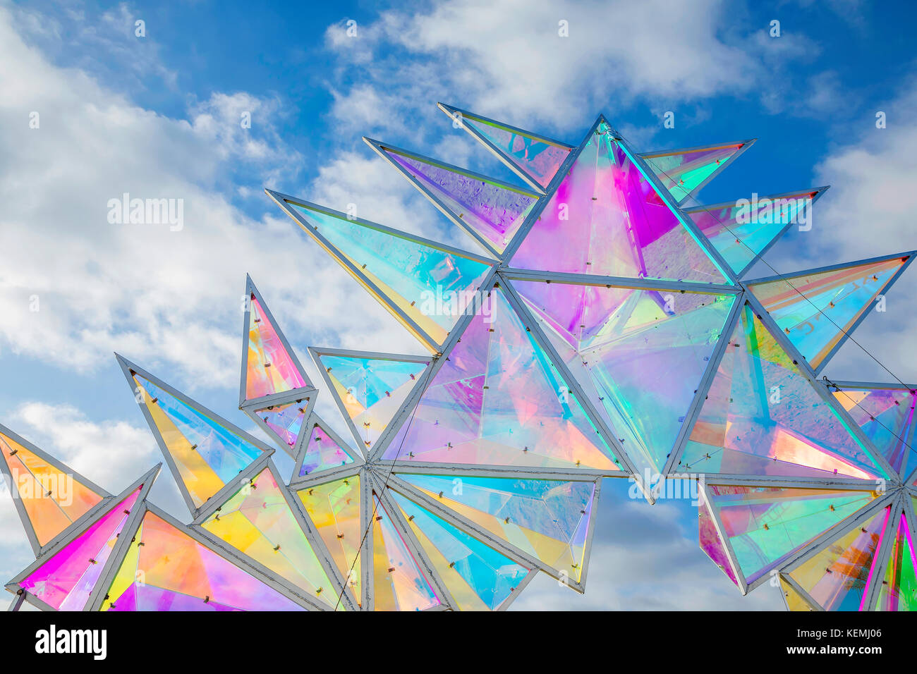 Pulse Portal sculpture in San Diego, California - Stock Image