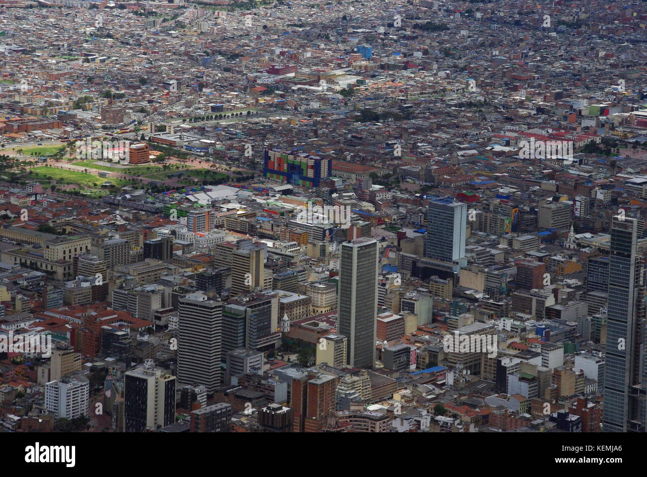 The City Centre of Bogota from Monserrat, Colombia - Stock Image