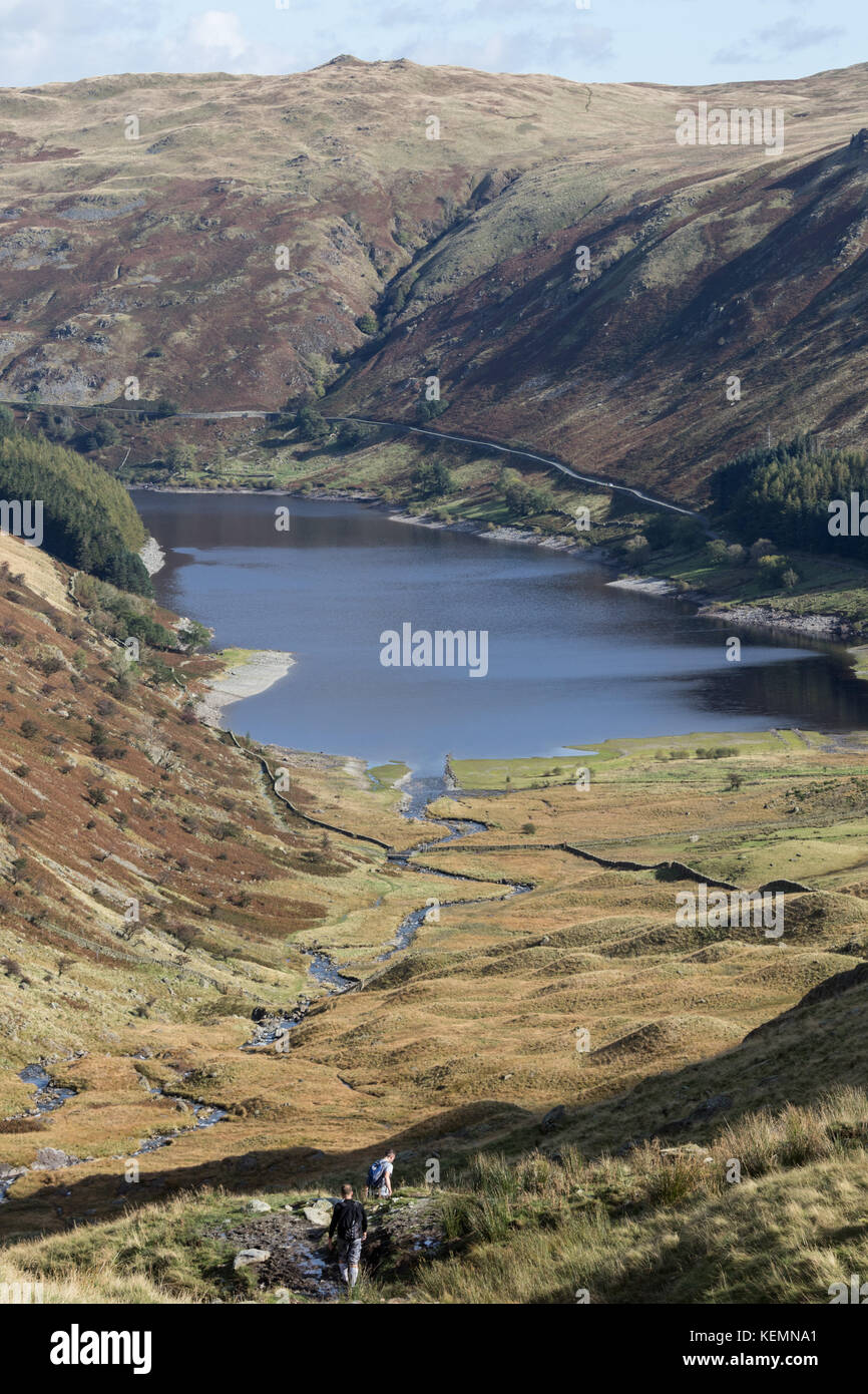 A view of Haweswater in Mardale in the Eden Valley in the Lake District - Stock Image