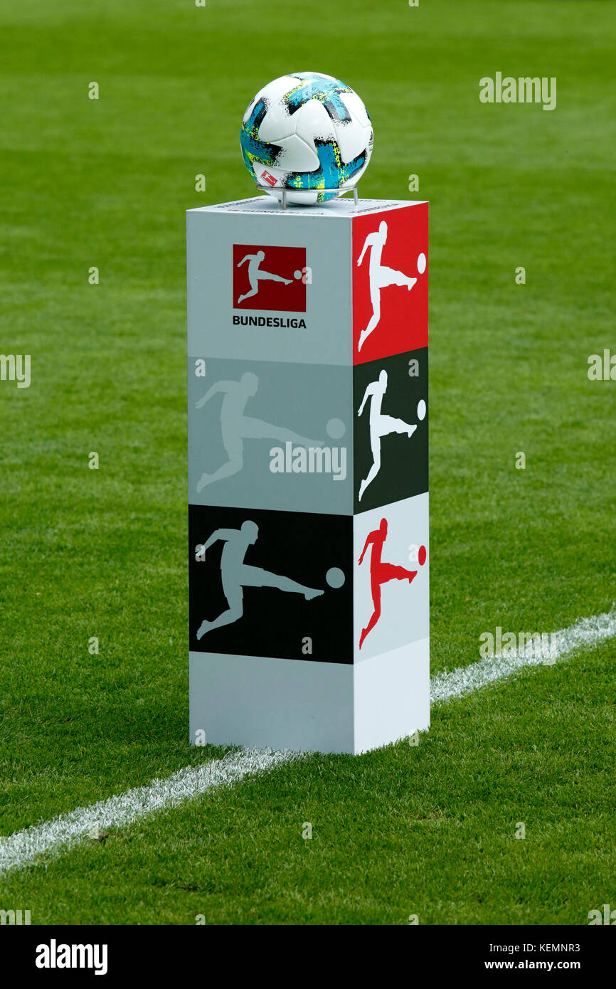 sports,football,Bundesliga,2017/2018,Borussia Moenchengladbach vs Bayer 04 Leverkusen 1:5,Stadium Borussia Park,stand - Stock Image