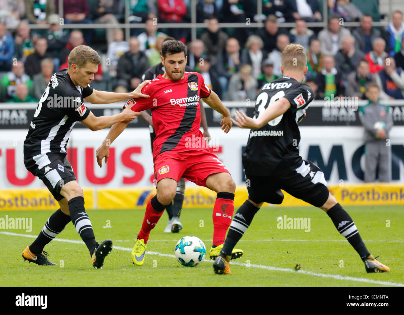 sports,football,Bundesliga,2017/2018,Borussia Moenchengladbach vs Bayer 04 Leverkusen 1:5,Stadium Borussia Park,scene - Stock Image