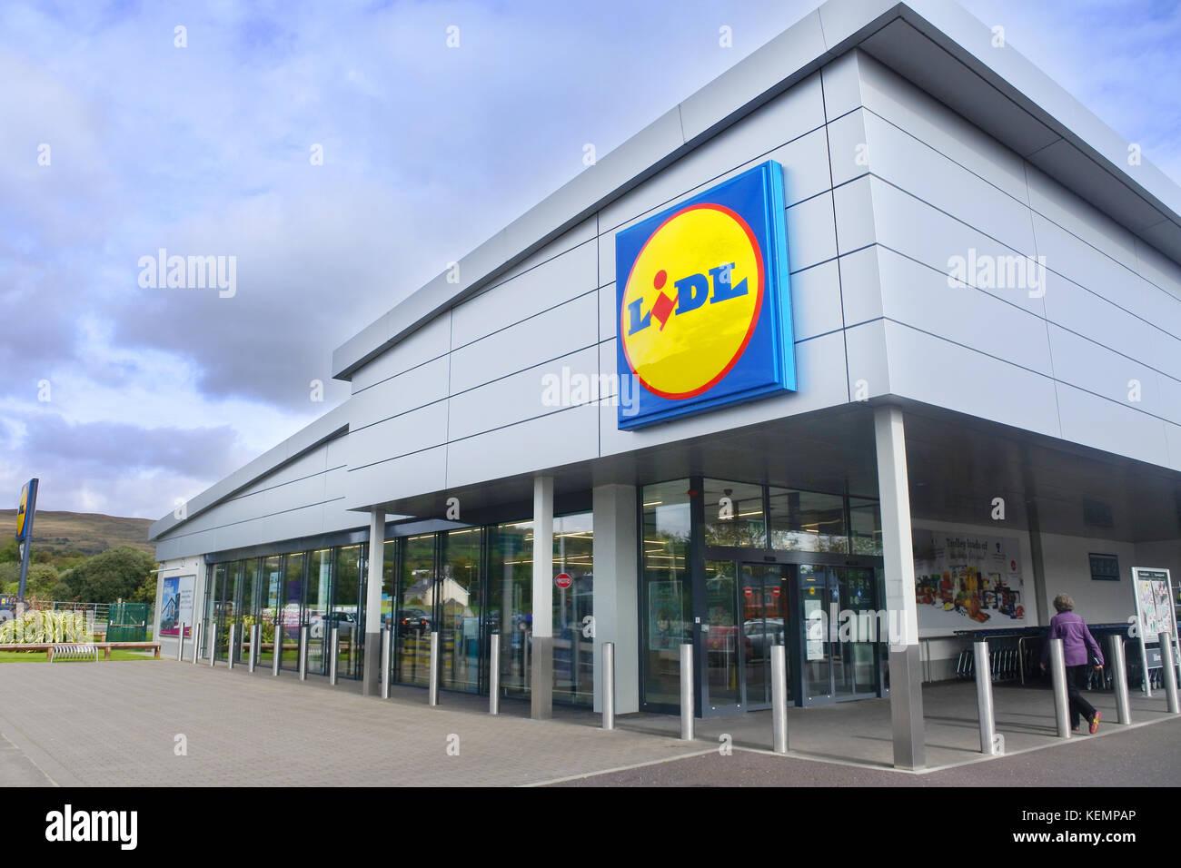 Lidl Supermarket, Kenmare, County Kerry, Ireland - John Gollop - Stock Image