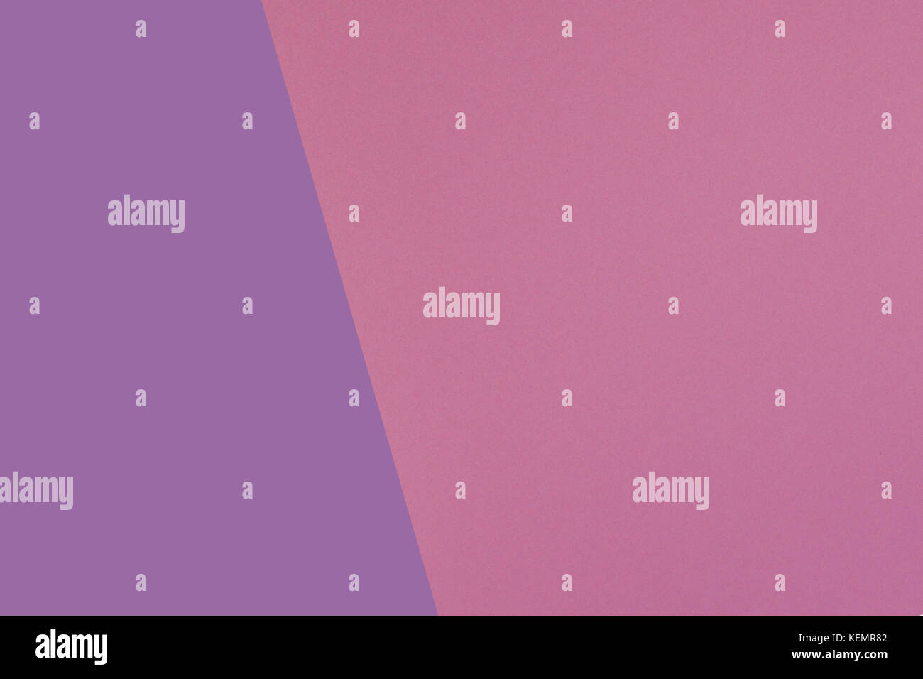 Two tone of pink and purple paper background - Stock Image