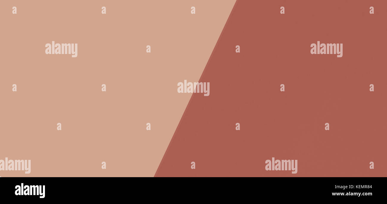 Two tone of brown tones paper background - Stock Image