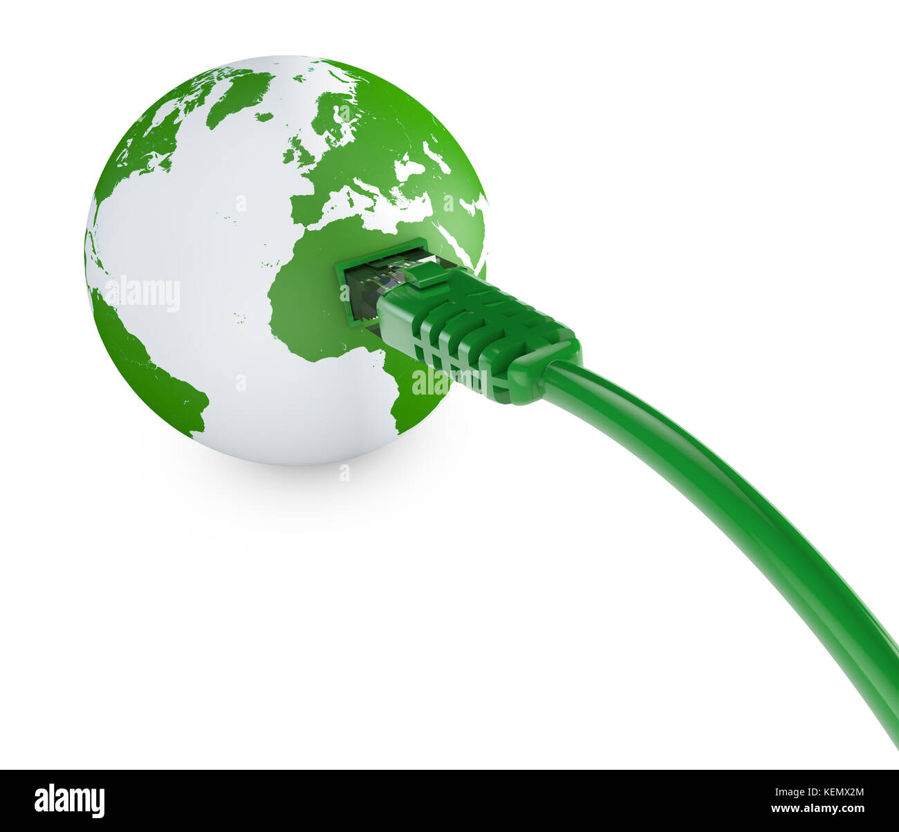 Ethernet cable, internet connection, bandwidth  The world on