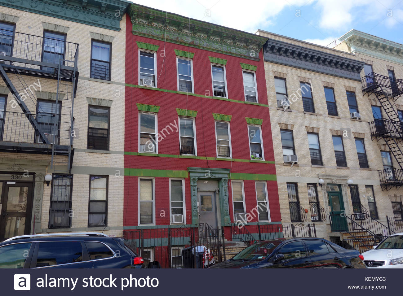 Jackie Gleason Childhood Home in Bushwick, Brooklyn, New York on Which He Modeled the Stage Set of 'The Honeymooners' - Stock Image