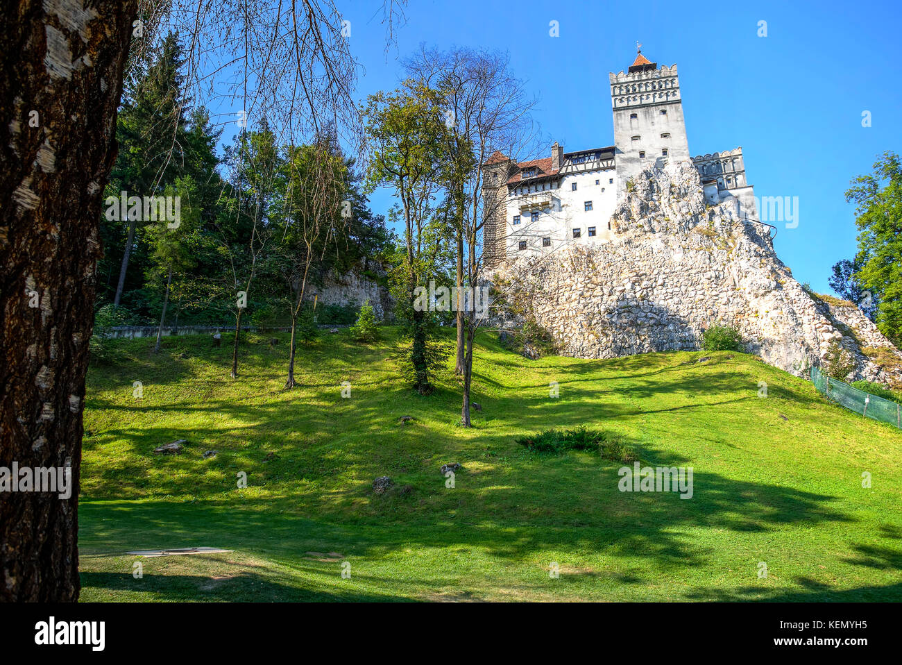 Bran Castle, also know as Dracula's castle in Transylvania, Romania - Stock Image