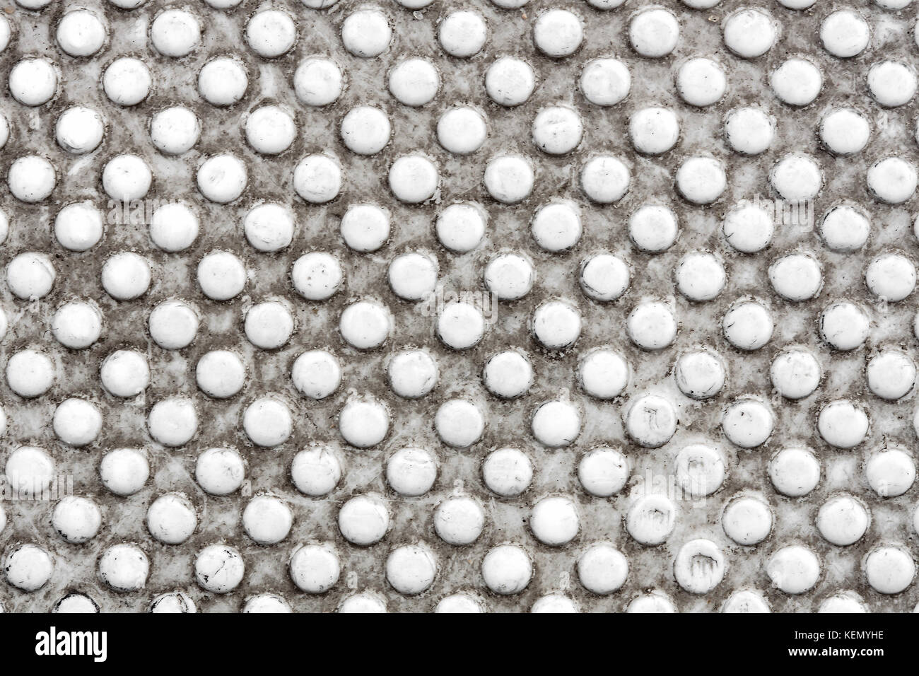 Grey dotted industrial background. - Stock Image