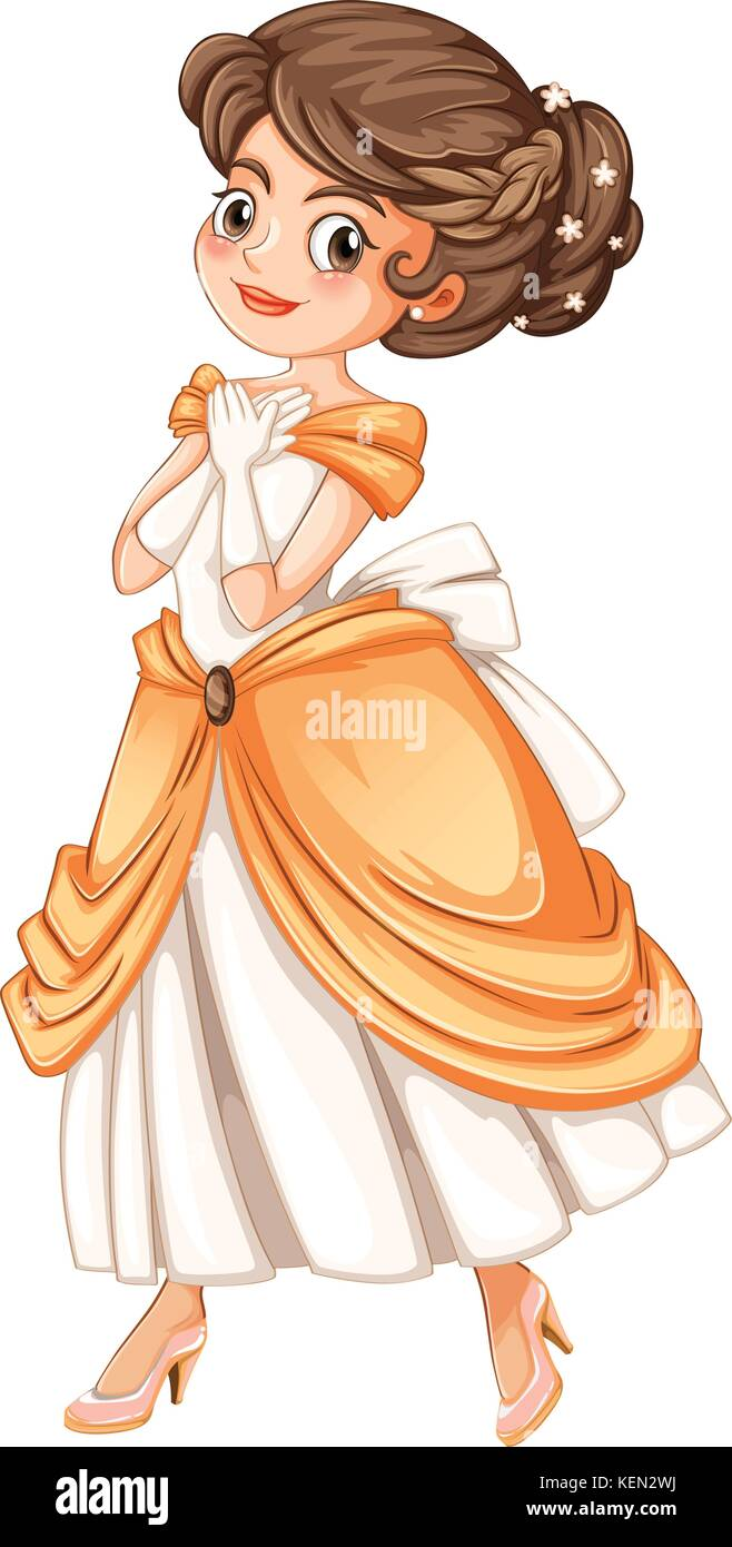 Illustration of a princess Stock Vector
