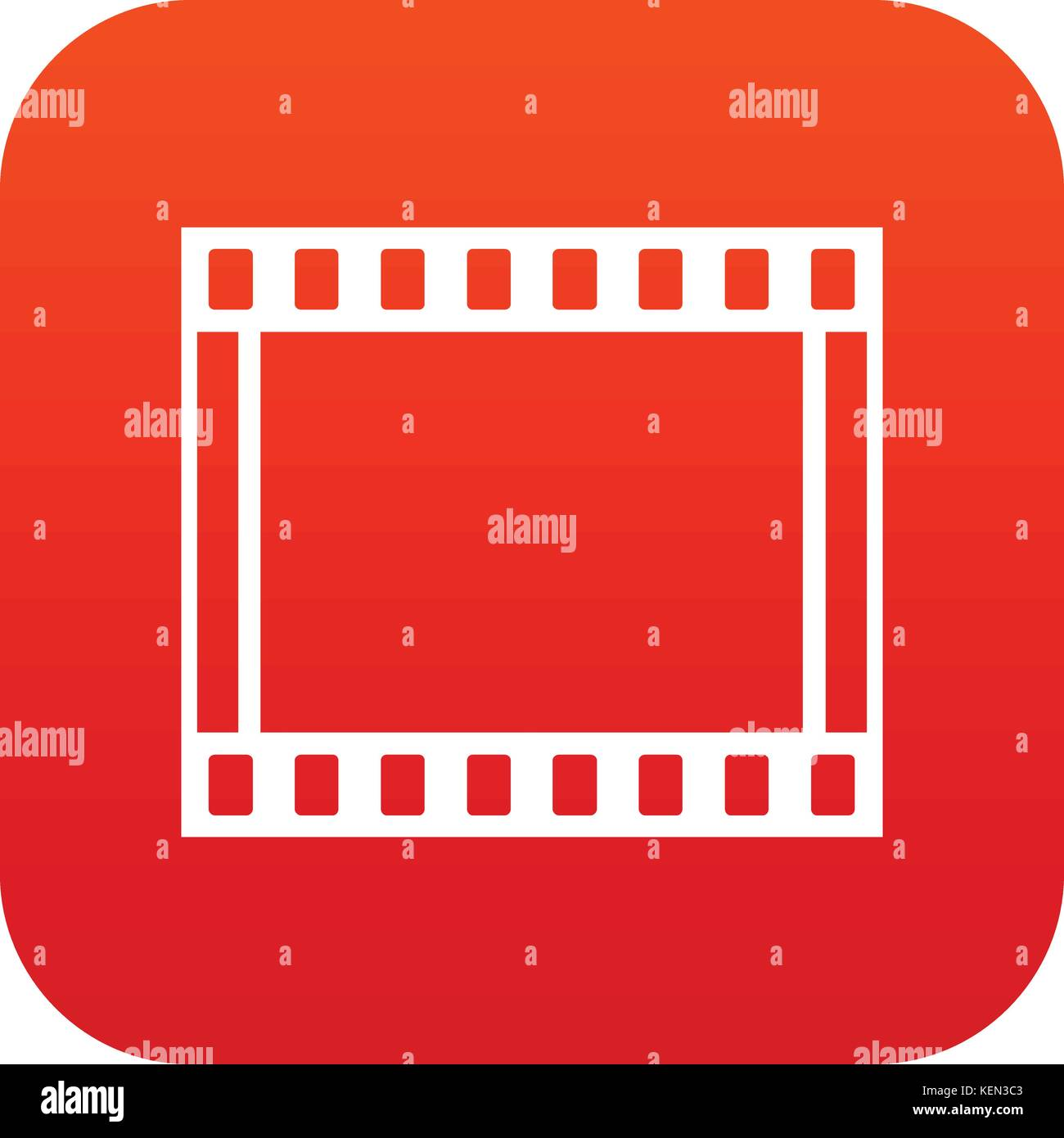Film with frames movie icon digital red Stock Vector Art ...