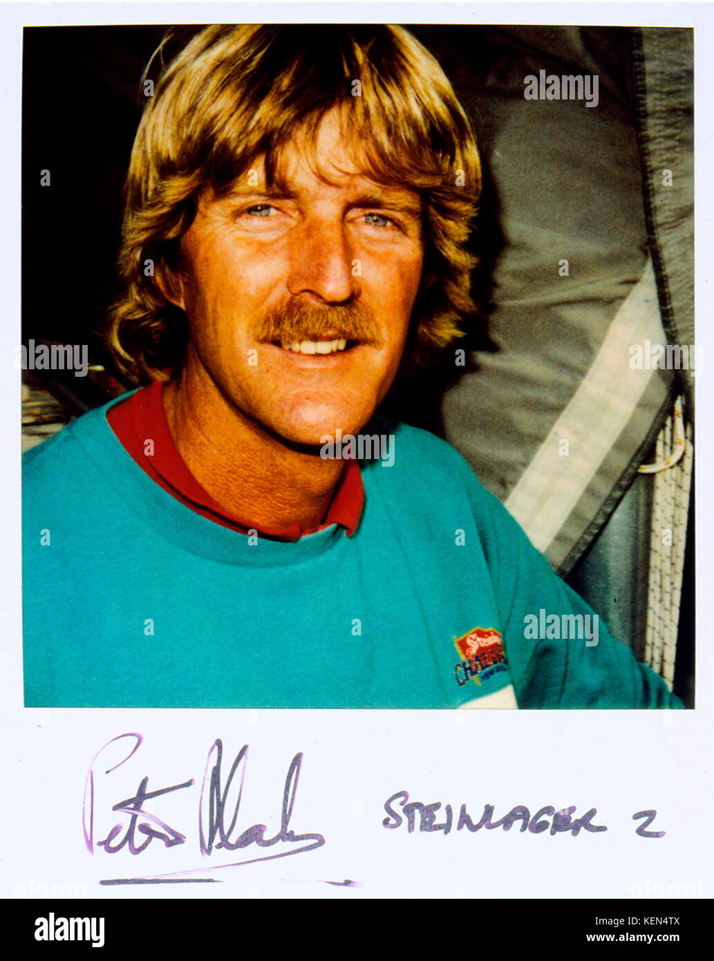 AJAXNETPHOTO. 1989. SOUTHAMPTON, ENGLAND. - POLAROID FILE PHOTO; PLEASE DO NOT CROP. - NEW ZEALAND YACHTSMAN SIR - Stock Image