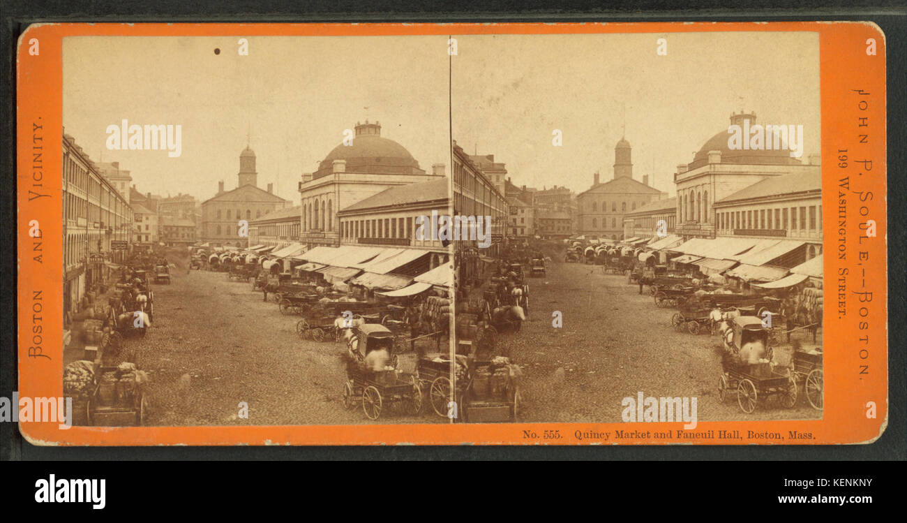 Quincy Market and Faneuil Hall, Boston, Mass, by Soule, John