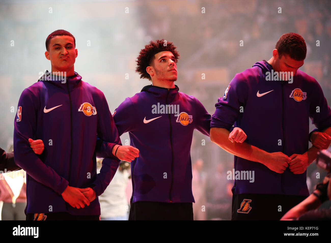 Los Angeles, CA, USA  22nd Oct, 2017  Los Angeles Lakers