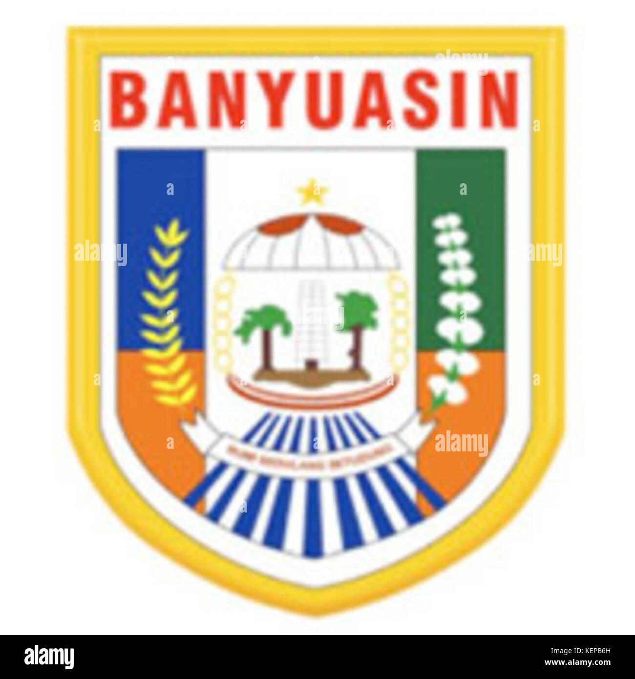 Lambang Kabupaten Banyuasin Stock Photo Alamy