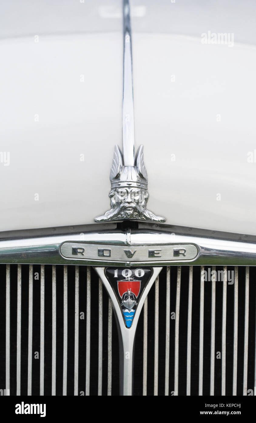 Rover 100 car badge and mascot. - Stock Image