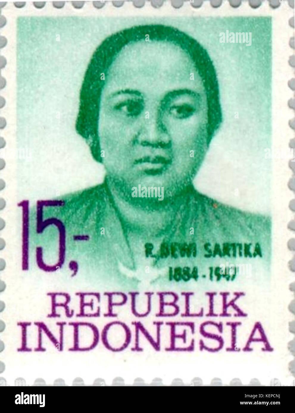Dewi Sartika 1969 Indonesia Stamp Stock Photo: 163991454 - Alamy