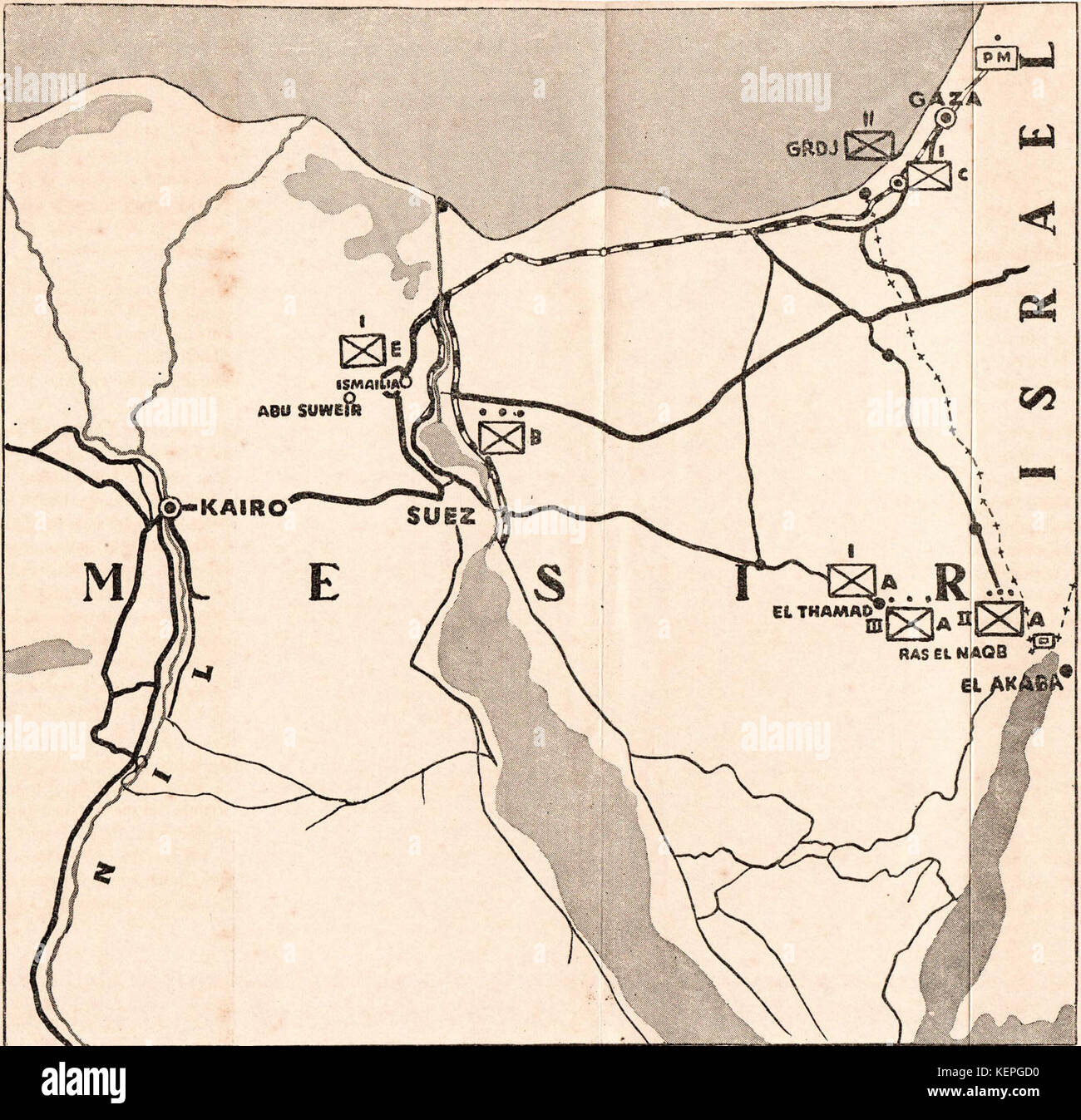 Suez Canal On Africa Map.Map Of The Suez Canal Stock Photos Map Of The Suez Canal Stock