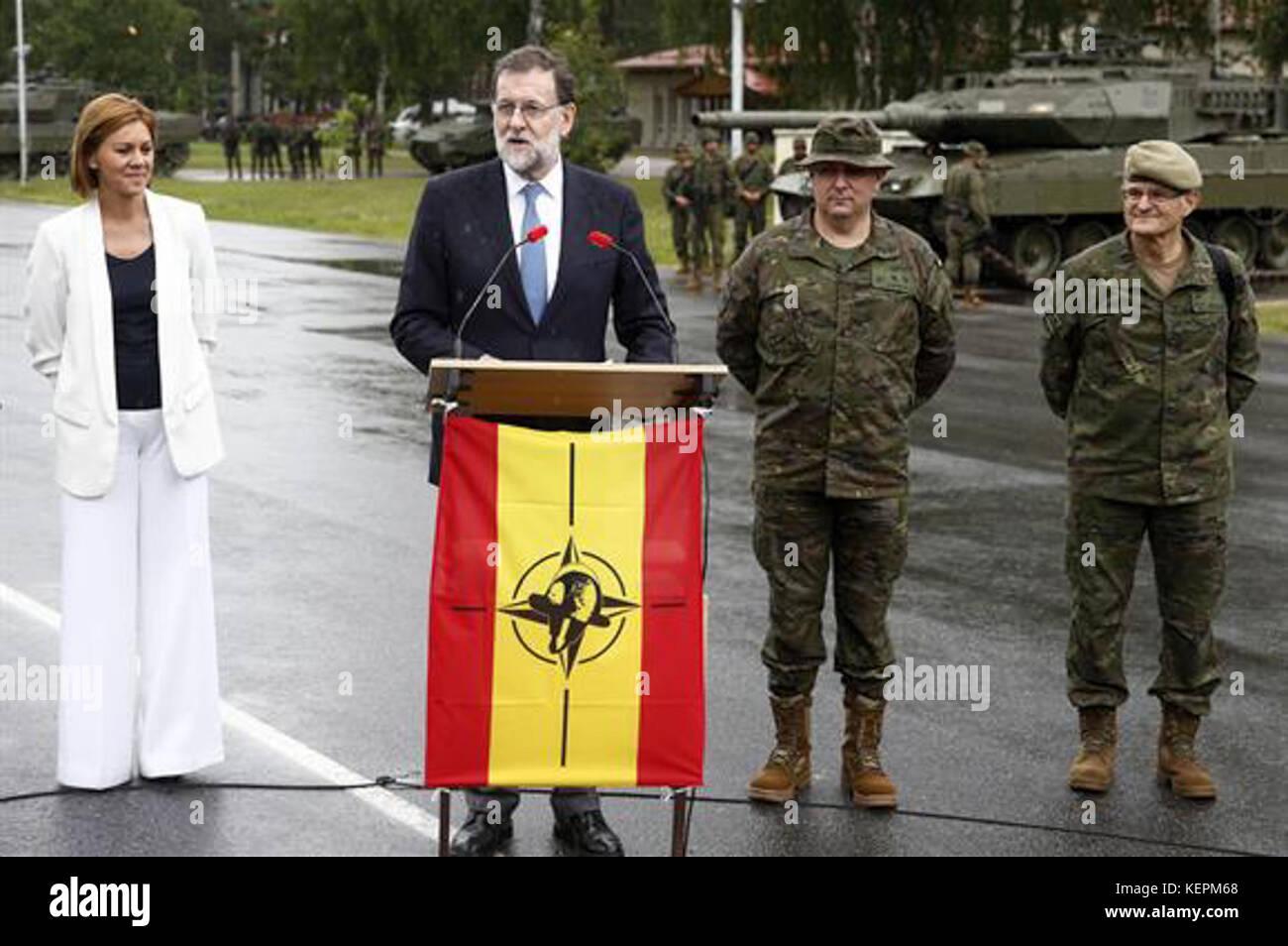 PM Mariano Rajoy Letonia 2017 - Stock Image