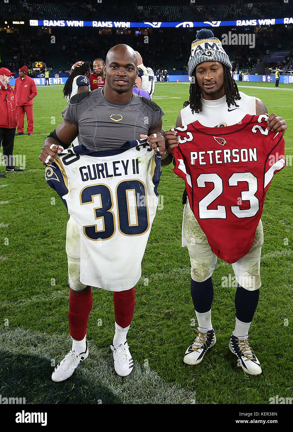 super popular b6f1a 7705f Los Angeles Rams' Todd Gurley (right) and Arizona Cardinals ...