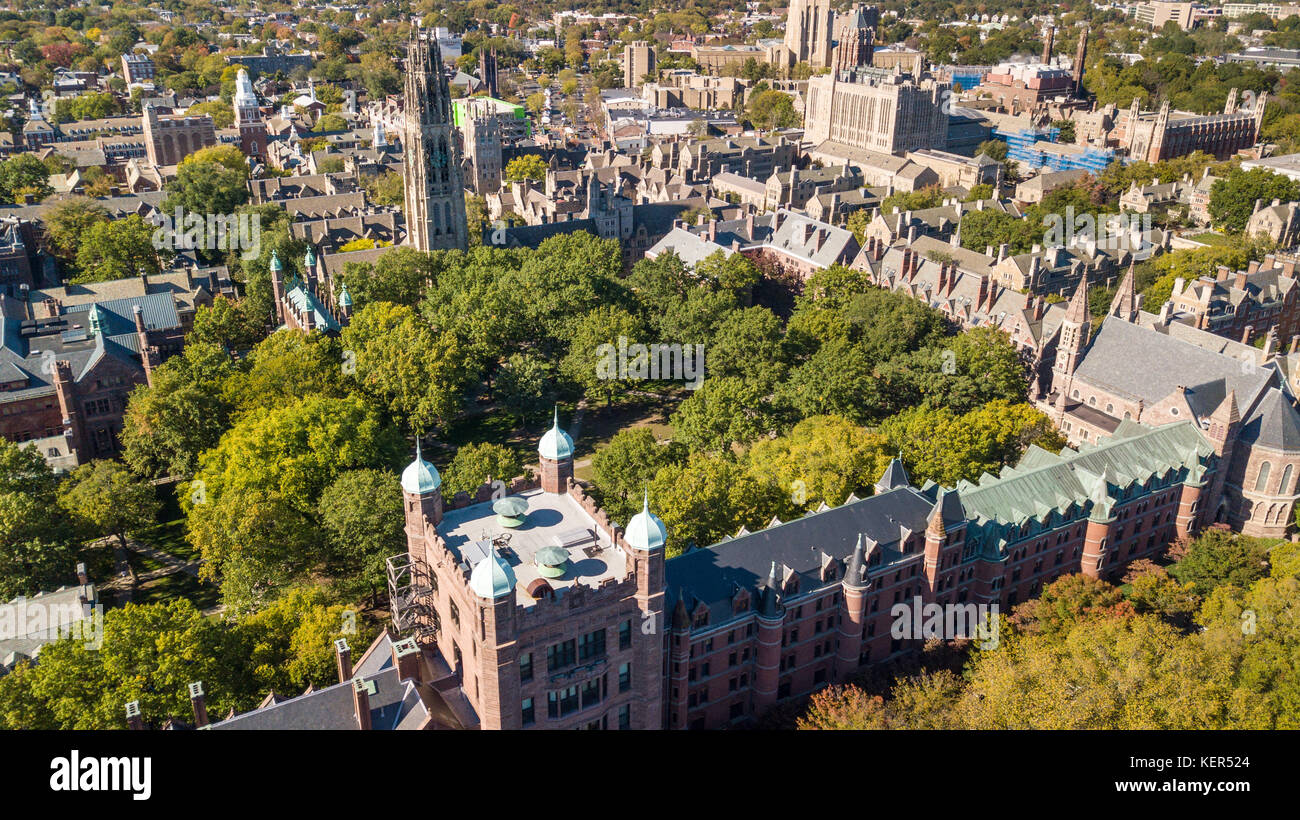 Old Campus, Yale College, New Haven, Connecticut, USA - Stock Image