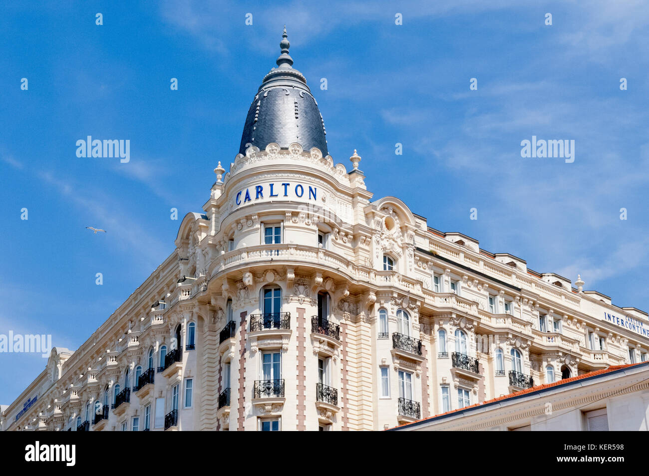 Carlton International Hotel in Cannes, France - Stock Image