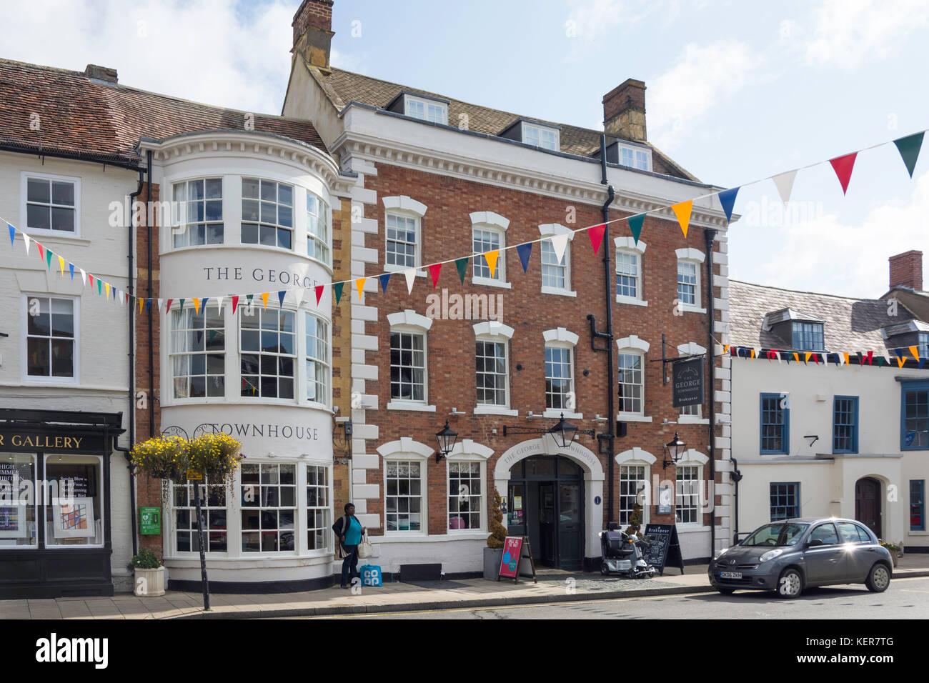 18th century The George Townhouse Inn, High Street, Shipston-on-Stour, Warwickshire, England, United Kingdom - Stock Image