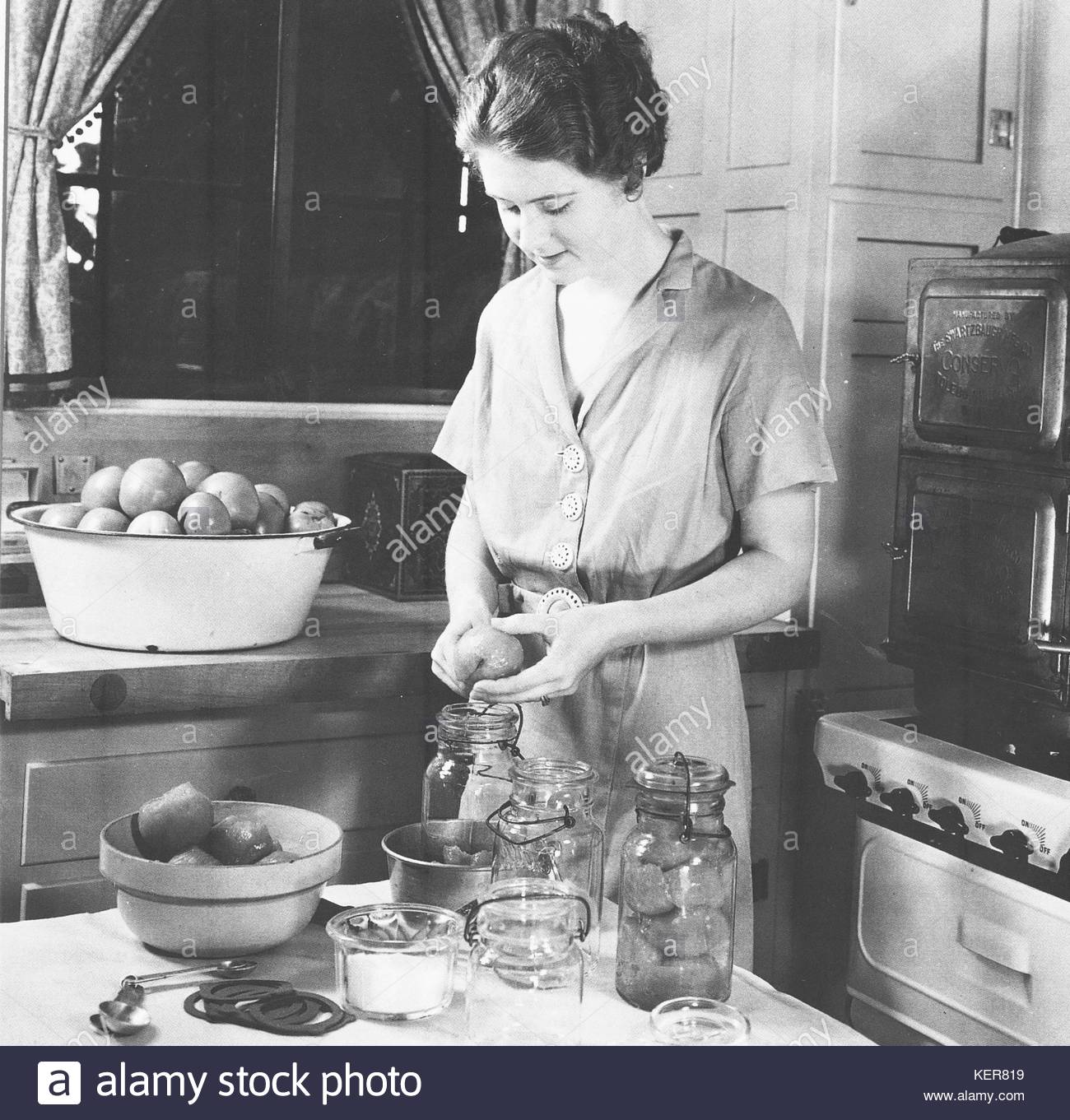 Home canning was a popular way to preserve food in the great stock home canning was a popular way to preserve food in the great depression of the 1930s farm wives or city women with a vegetable or fruit garden in the forumfinder Gallery