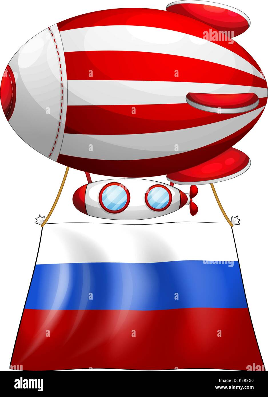 illustration of a balloon and the flag of russia on a white stock rh alamy com clipart image ballon rugby