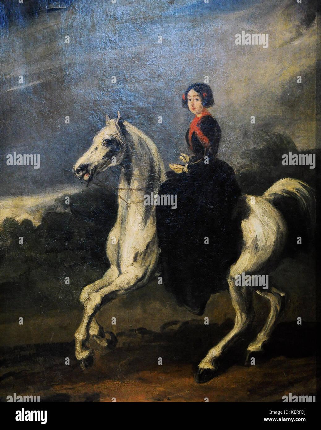 Piotr Michalowski (1800-1855). Polish painter. Amazon, 1853-1855. Silesian Museum. Katowice. Poland. - Stock Image