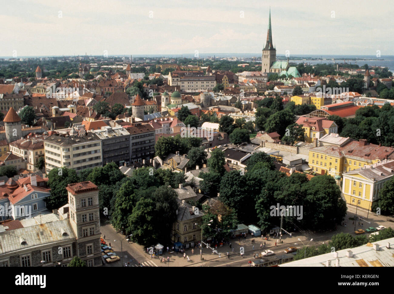 ESTONIA TALLINN view over town 2003 - Stock Image