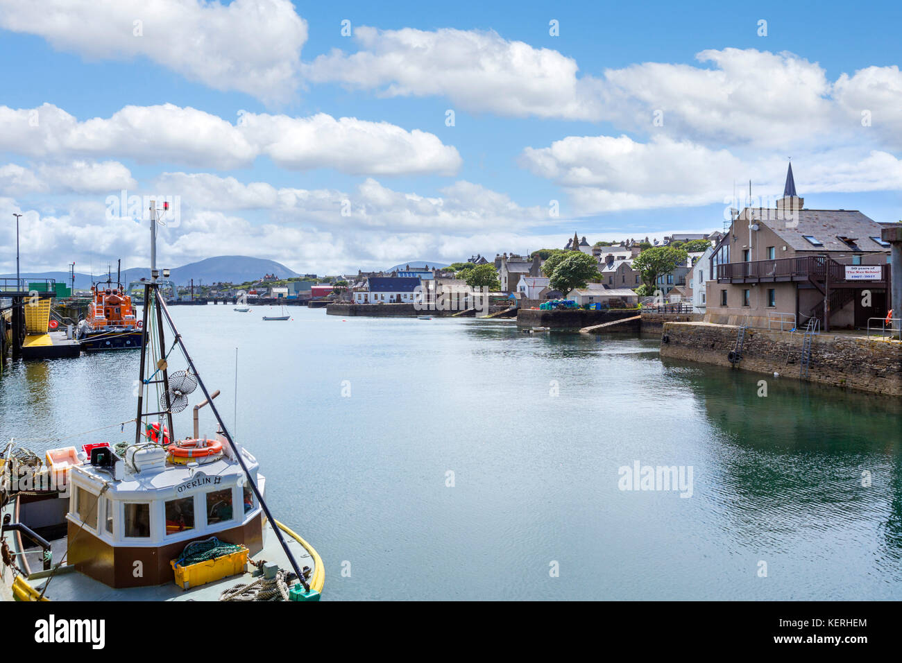The harbour in Stromness, Mainland, Orkney, Scotland, UK Stock Photo