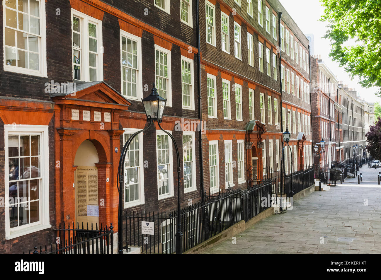 England, London, City of London, Inns of Court, Inner Temple, King's Bench Walk - Stock Image