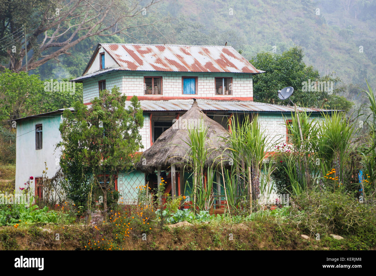 Nepali Village House Stock Photos Nepali Village House
