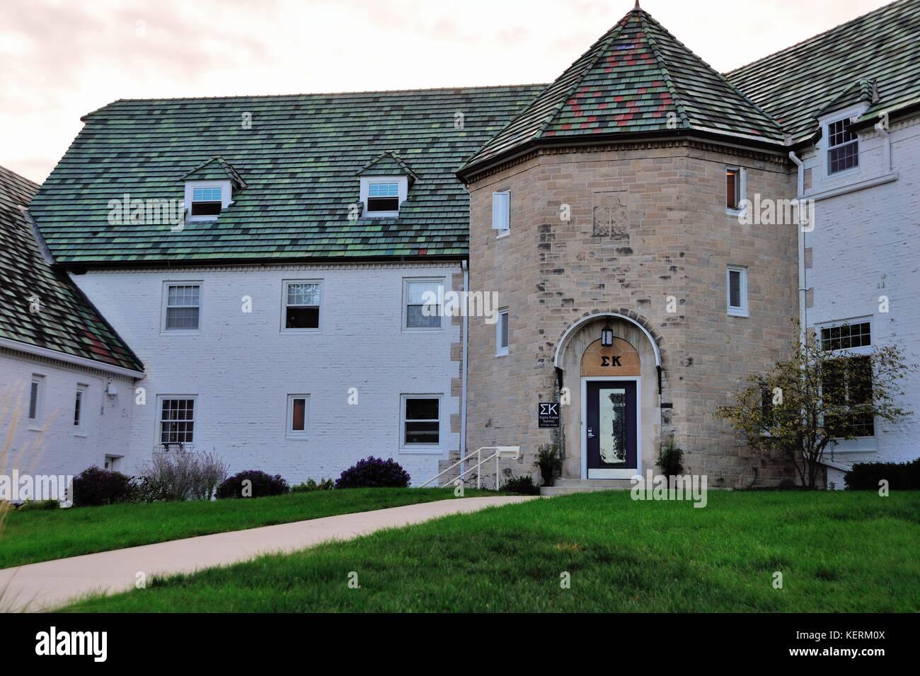 Sigma Kappa sorority on the campus of Iowa State University in Ames, Iowa., USA. Stock Photo