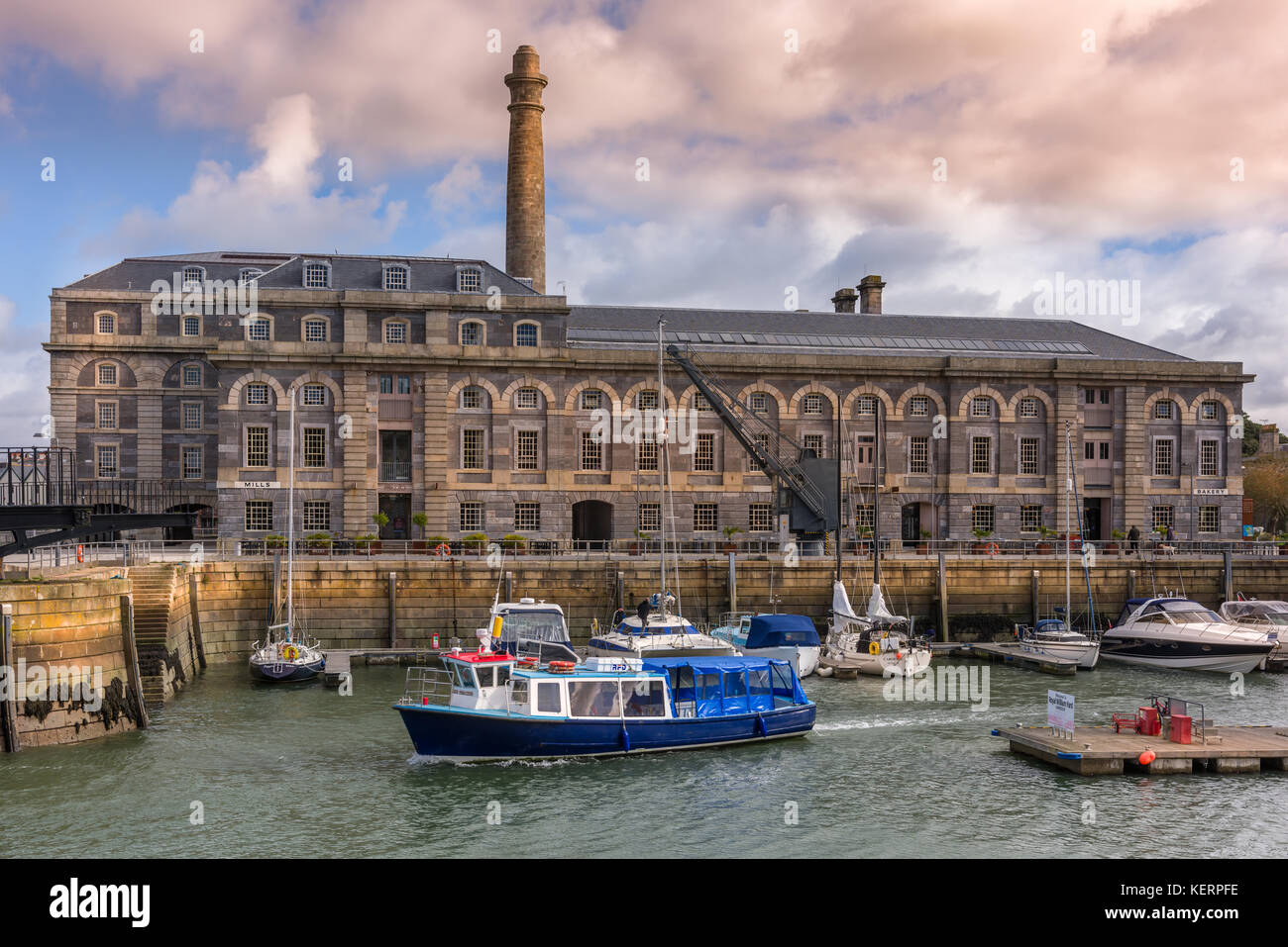 Mills Bakery - Royal William Yard Plymouth was designed by the Victorian architect Sir John Rennie and is considered - Stock Image
