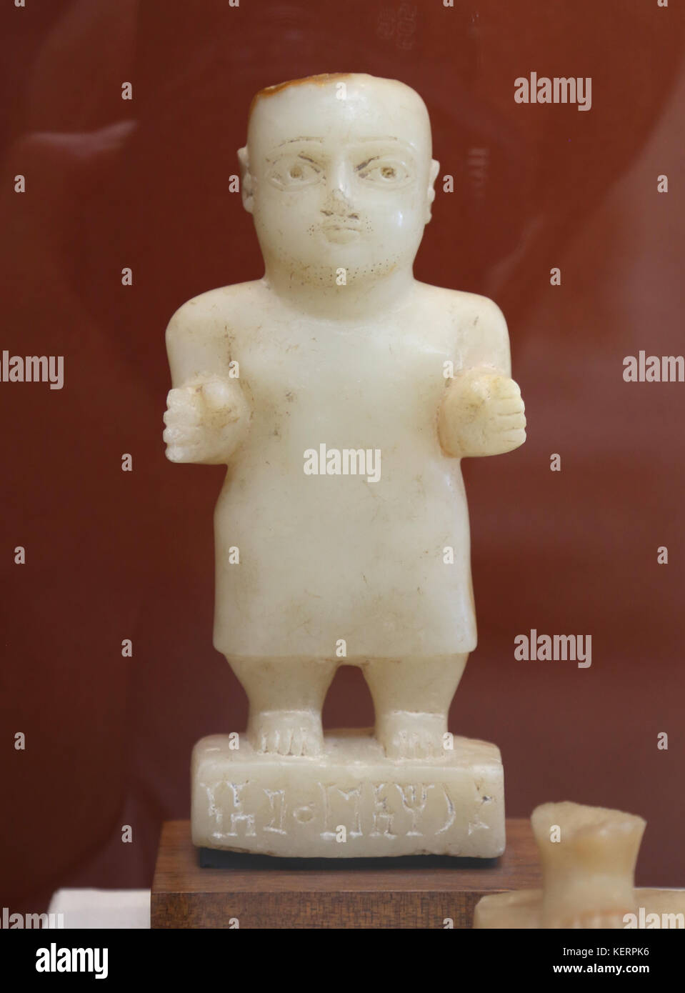 Ancient South Arabia 900BC-600 AD (now Yemen). Alabaster figure.  Originally placed inside tombs. British Museum. - Stock Image