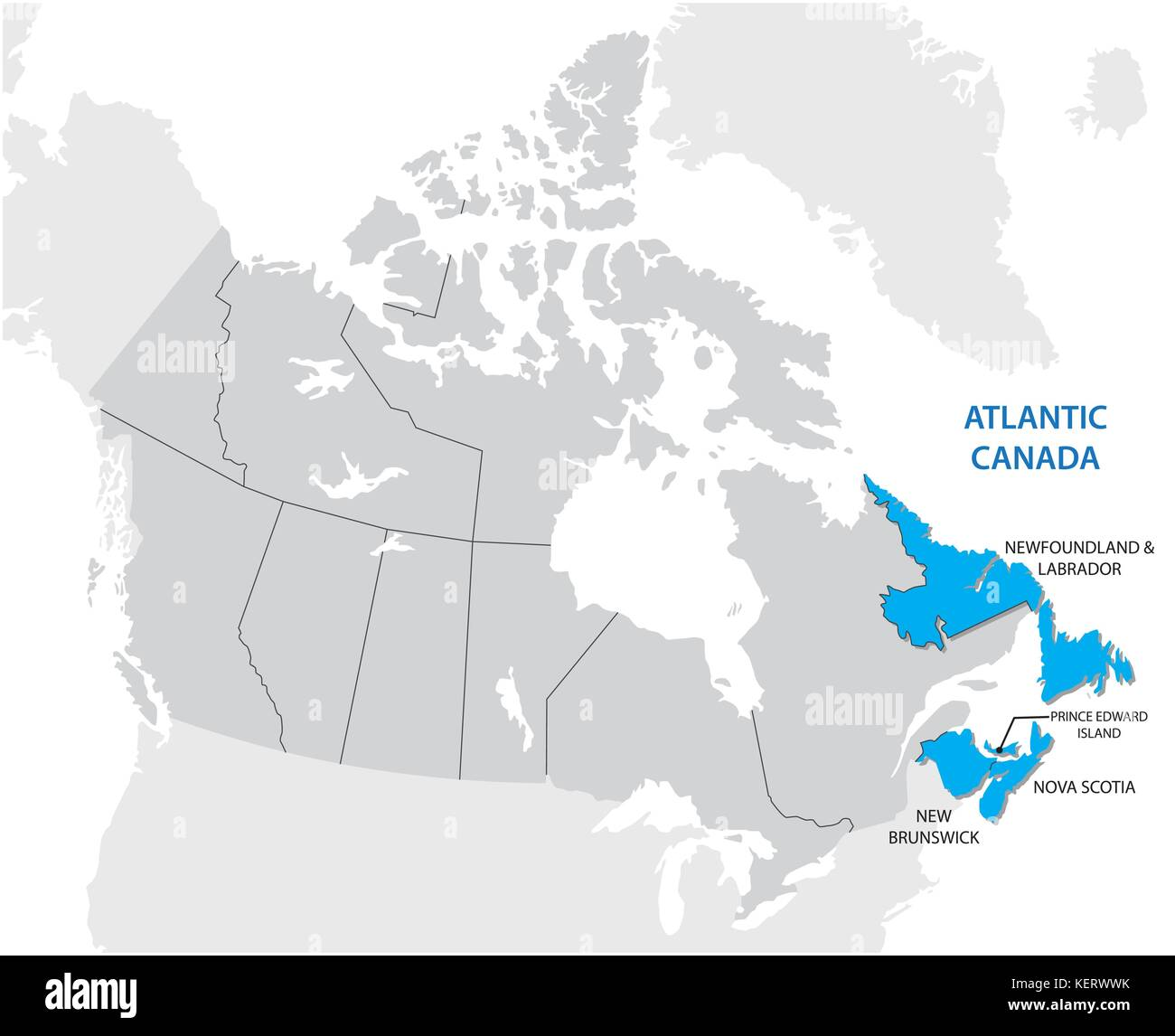 Map Of Canada Newfoundland.Newfoundland And Labrador Map Stock Photos Newfoundland And
