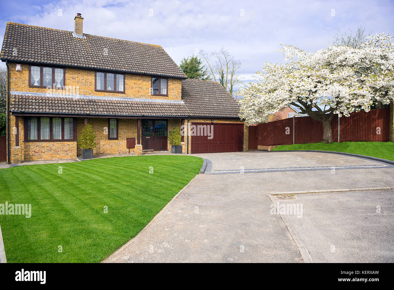 large detached house south east England Stock Photo