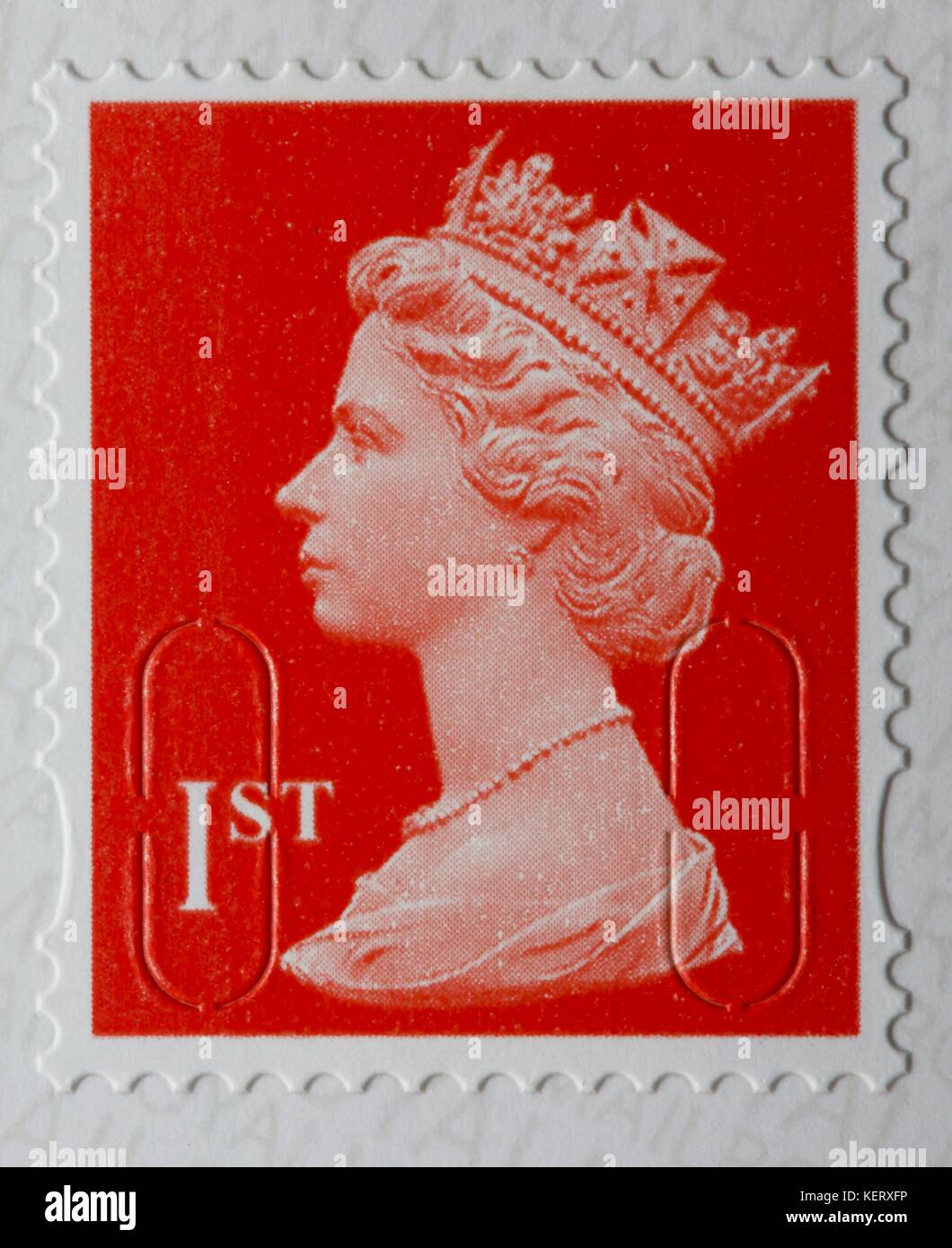Royal Mail 1st class stamp - Stock Image