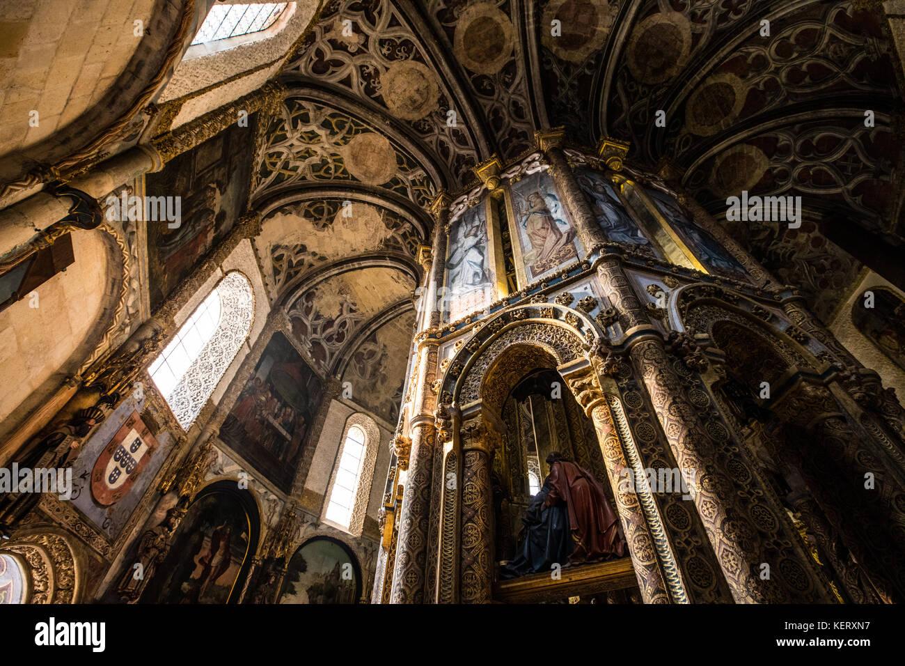 Convent of Christ or Convento de Cristo, Tomar, Ribatejo Province, Portugal Stock Photo