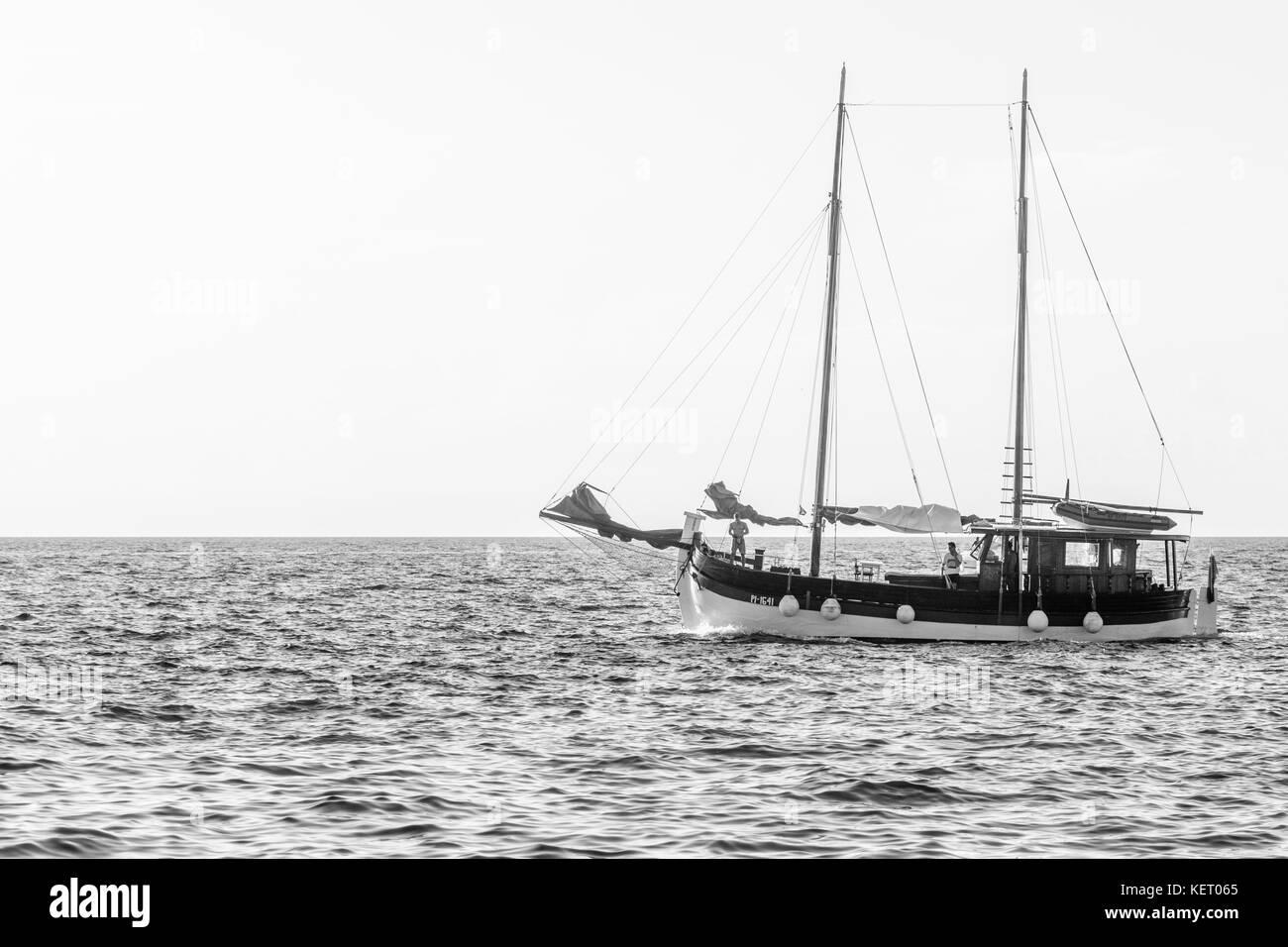 Piran in summer 2017 - Stock Image