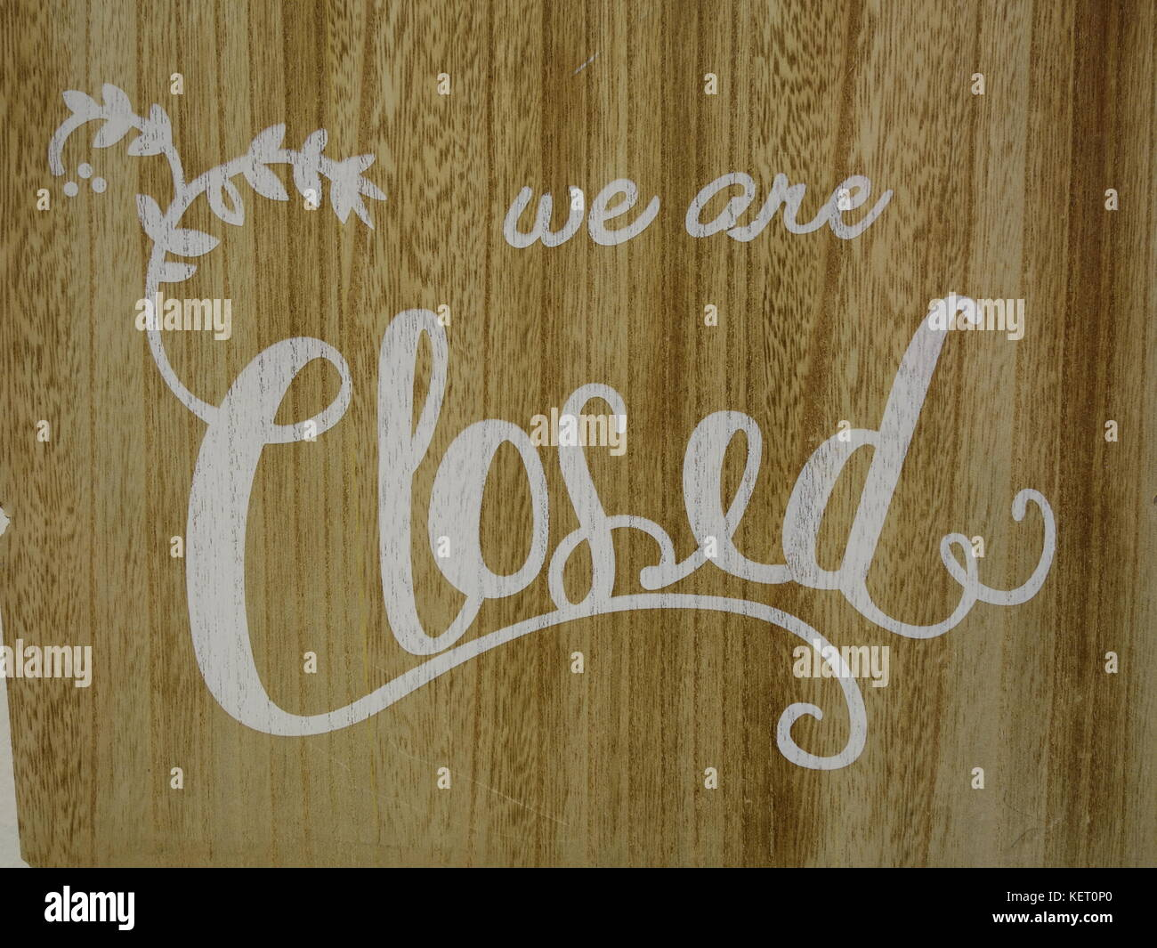 we are closed sign - Stock Image