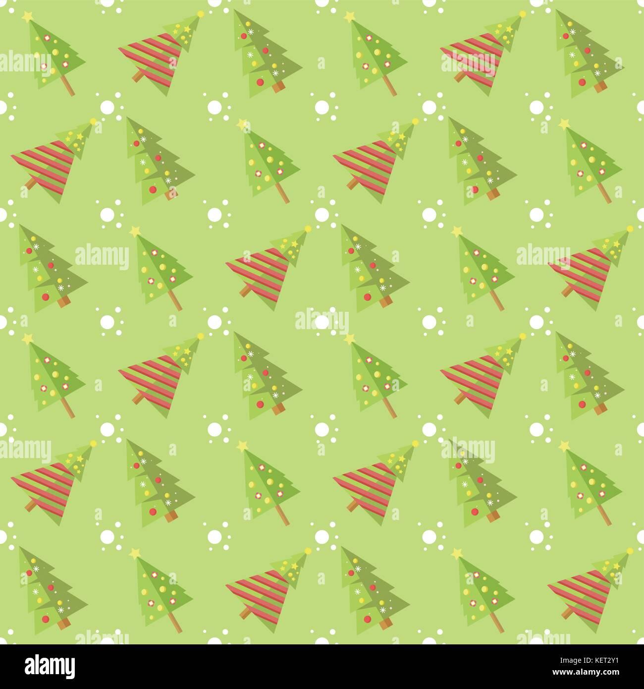 Green Seamless Christmas Tree Pattern